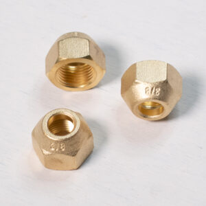 Brass Refrigeration Flare Copper Nut Size: 3/8